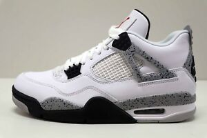 0847eae60f88 Air Jordan 4 Retro White Cement Fire Red Grey 840606 192 Size 10.5 ...