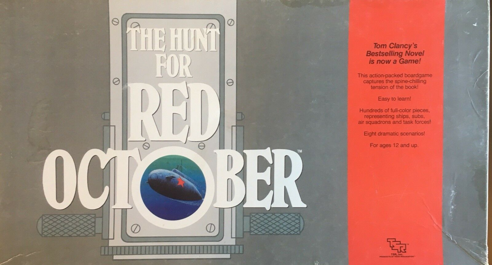 The Hunt for Red October Board Game Mostly Unpunched Unplayed 1988