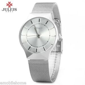 f7b61478f05 Julius JA - 577 Male Quartz Wrist Watch Ultrathin Stainless Steel ...
