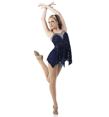 Into The Light Dance Costume Navy Shorts & Skirted Top Lyrical Contemporary Tap