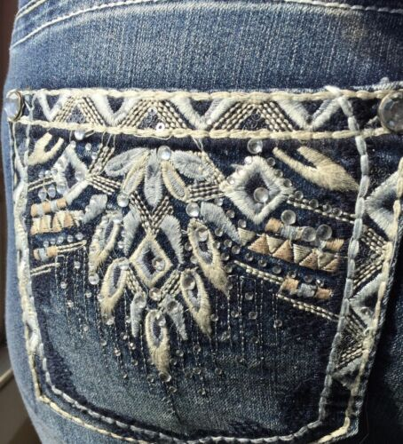 NEW WALLFLOWER Luscious Curvy Boot Jeans Bling Pockets Size 16W 20W