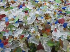 3 POUNDS 1/4 inch and smaller MACHINE MADE RECYCLED TUMBLED BEACH SEA GLASS