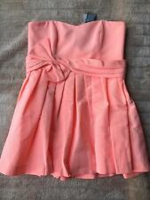 BNWT Forever New Ellie Bow Prom Dress Neon Orange Size 16