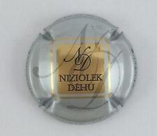 capsule champagne NIZIOLEK DEHU n°8a gris argenté centre or