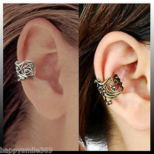 New-Fashion-Punk-Hollow-out-Engraving-Ladie-Ear-Cuff-Clip-Earrings-2-Colors-175
