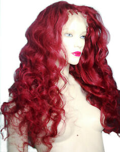 Remy-Full-Lace-Wig-Human-Hair-Red-Burgundy