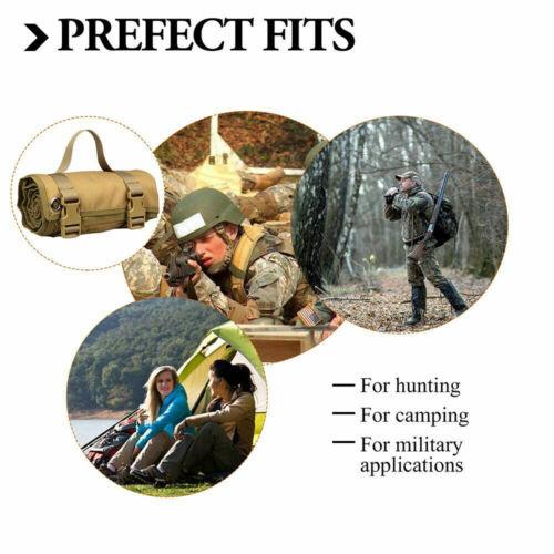 Tactical Shooting Range Mat Training Molle Roll Up Hunting Pad Picnic Mat