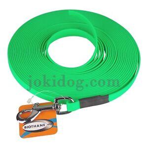 Longe Plate Biothane - Jokidog 13 Mm 15 M Vert