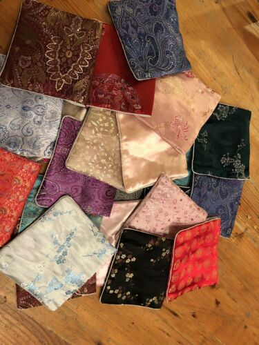 """Wholesale NWOT 23PCS Chinese Zippered Coin 6/""""x5/"""" Bags Pouches"""