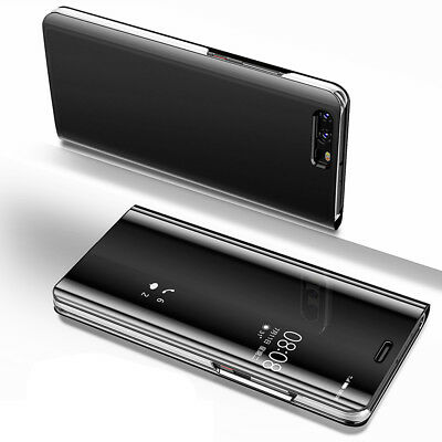 Clear View Mirror Thin Case Flip Leather Stand Cover for Huawei Mate10/Pro Lite
