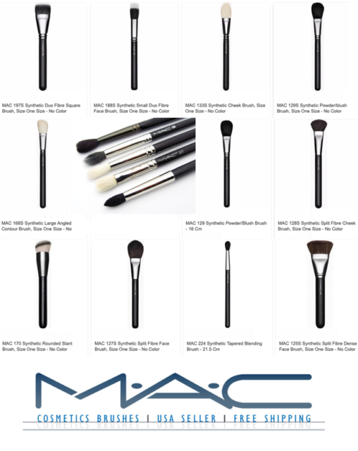 208 Synthetic Angled Brow Brush by MAC #3