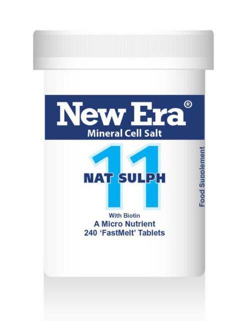 New Era No 11 Nat Sulph Mineral Cell Salt 240 Tabs - 50% OFF RRP BB End Oct.2018