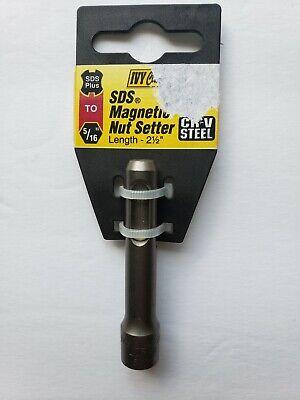 "Chrome Vanadium Steel Ivy Classic 5//16 x 2-1//2/"" SDS Magnetic Nut Setter"