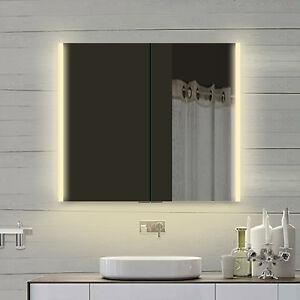 LED Beleuchtung Aluminium Badezimmerschrank Spiegelschrank Licht Bad ...