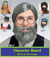 Character Beard Short Beard Facial Hair Black Brown Or Grey Costume Accessory