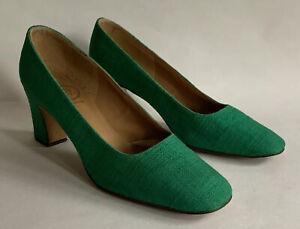 Bally Tiara Bright Green Fabric Covered