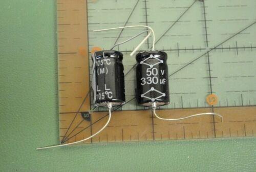CAPACITOR ELECTROLYTIC AXIAL High Temp  330uf 50v 105/'C 12x21 Audio  5 pcs