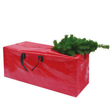 Heavy Duty Large Christmas Tree Storage Bag For Clean Up Holiday Red Up to 9ft