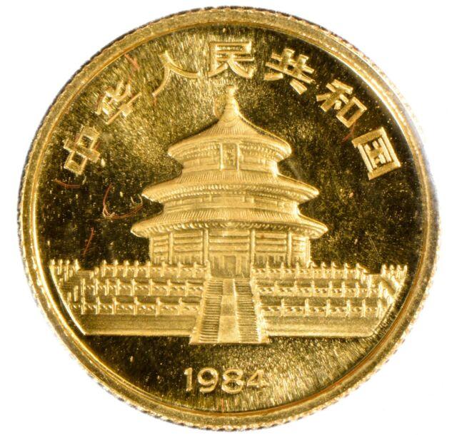 1984 China 10 Yuan 1/10 oz .999 Gold Panda Coin - Sealed OMP - Lot#Z841