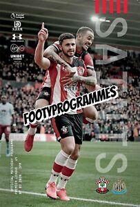 SOUTHAMPTON-V-NEWCASTLE-UNITED-Premier-League-Programme-19-20-Free-UK-Postage