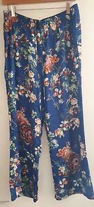 Blue Floral pantaloni Xl taglia Zara Pantaloni wqPEW