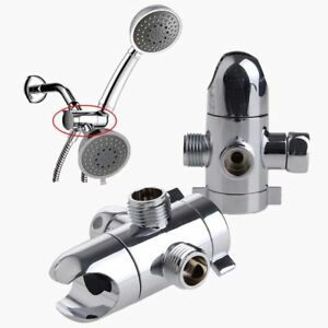 3 Way Shower Head Diverter Mount Combo Shower Arm Mounted