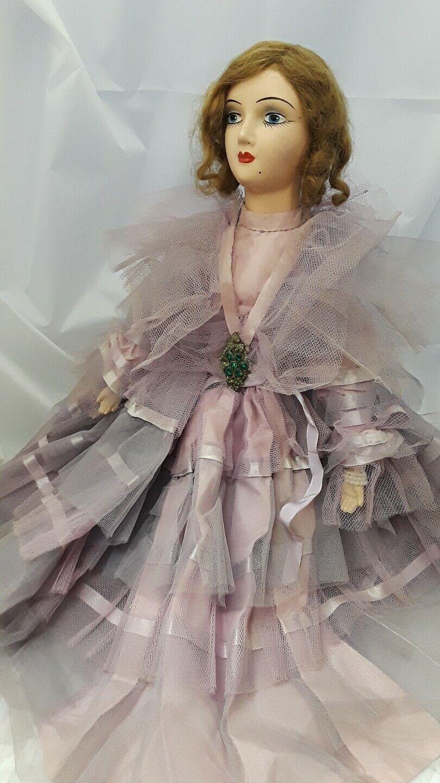 Boudoir Keeneye Doll Large Circa 1920's 30  Tall