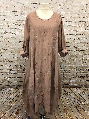 Moonshine Fashion Cord Kleid Tunika Zipfel Lagenlook Übergröße 44 46 48 Neu