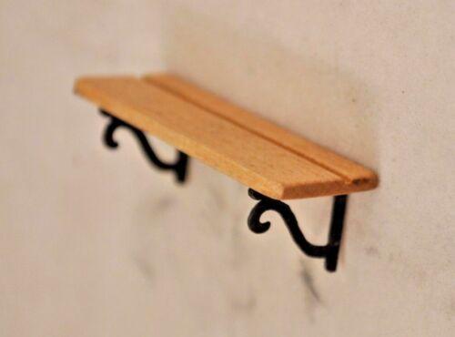 Maple Plate Shelf 1//12 scale dollhouse cast miniature OMA101M USA OH