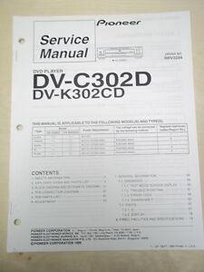 pioneer service manual dv c302d k302cd dvd player original repair ebay rh ebay com Pioneer Spec 2 Parts Pioneer Spec 1