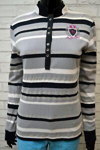Polo-Donna-LA-MARTINA-Taglia-M-Maglia-Maglietta-Camicia-Shirt-Woman-Cotone-Slim