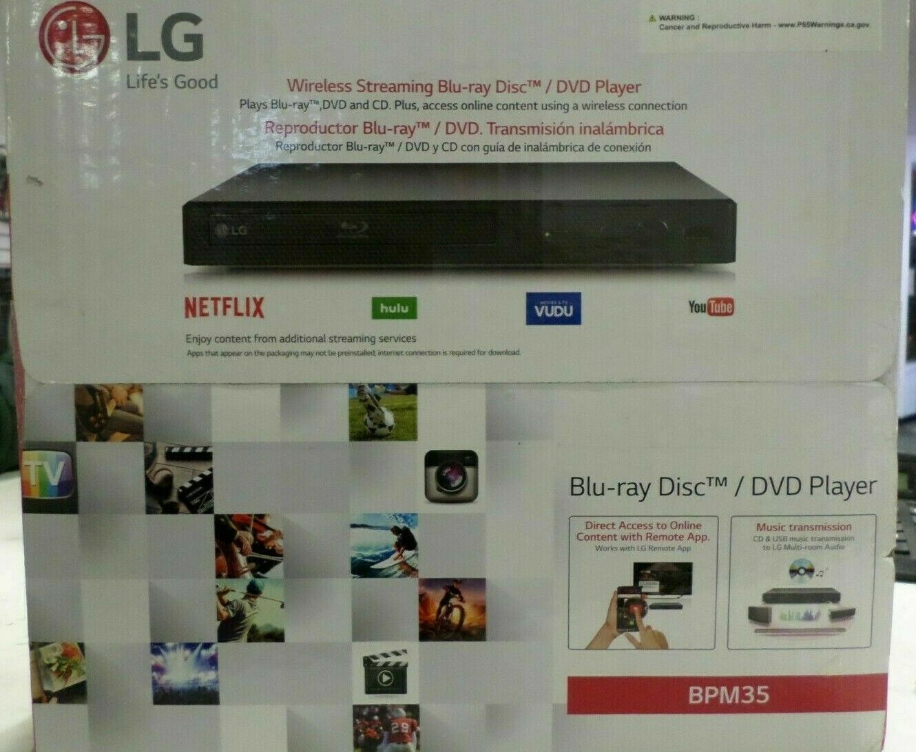 LG Electronics BPM35 Blu-ray Disc Player with Streaming Services Wifi Netflix bpm35 disc electronics netflix player services streaming wifi with