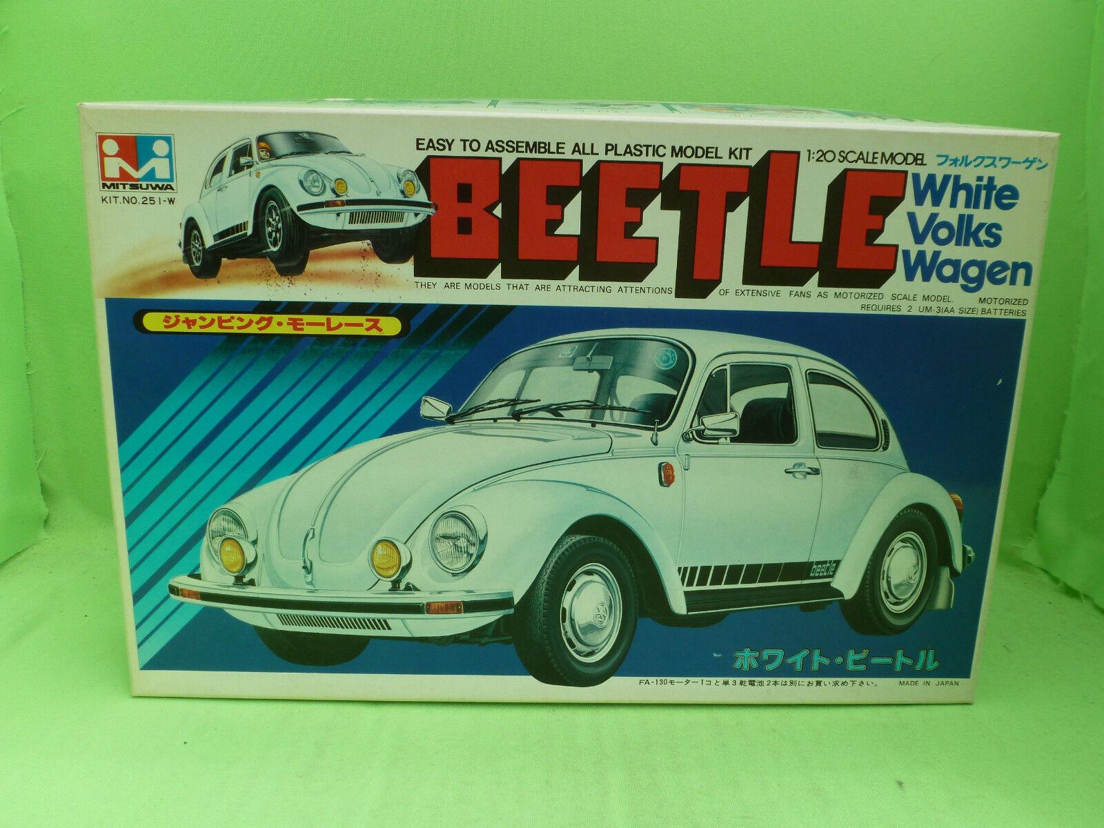 MITSUWA KIT 251 VW BEETLE KAFER VOLKSWAGEN 1 20 - UNBUILT IN BOX COMPLETE (2)