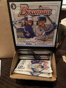 2020-BOWMAN-GRAVITY-FEED-12-Packs-12-Cards-Per-Pack-Brand-New-sealed-Packs