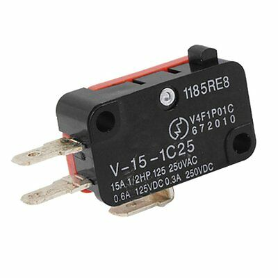TM-1305 AC380V 15A SPDT 1NO+1NC Snap Action Plunger Micro Limit Switch