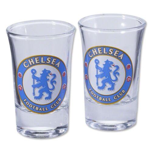 Officiel Chelsea FC Football Soccer Shot Glass Set Shooter Tumbler 2 Pack