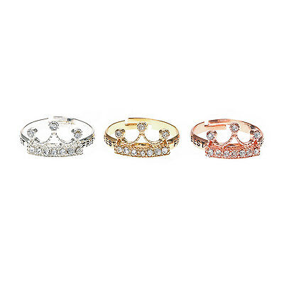 Girls and Womens 3 Pack Best Friend Crown Rings