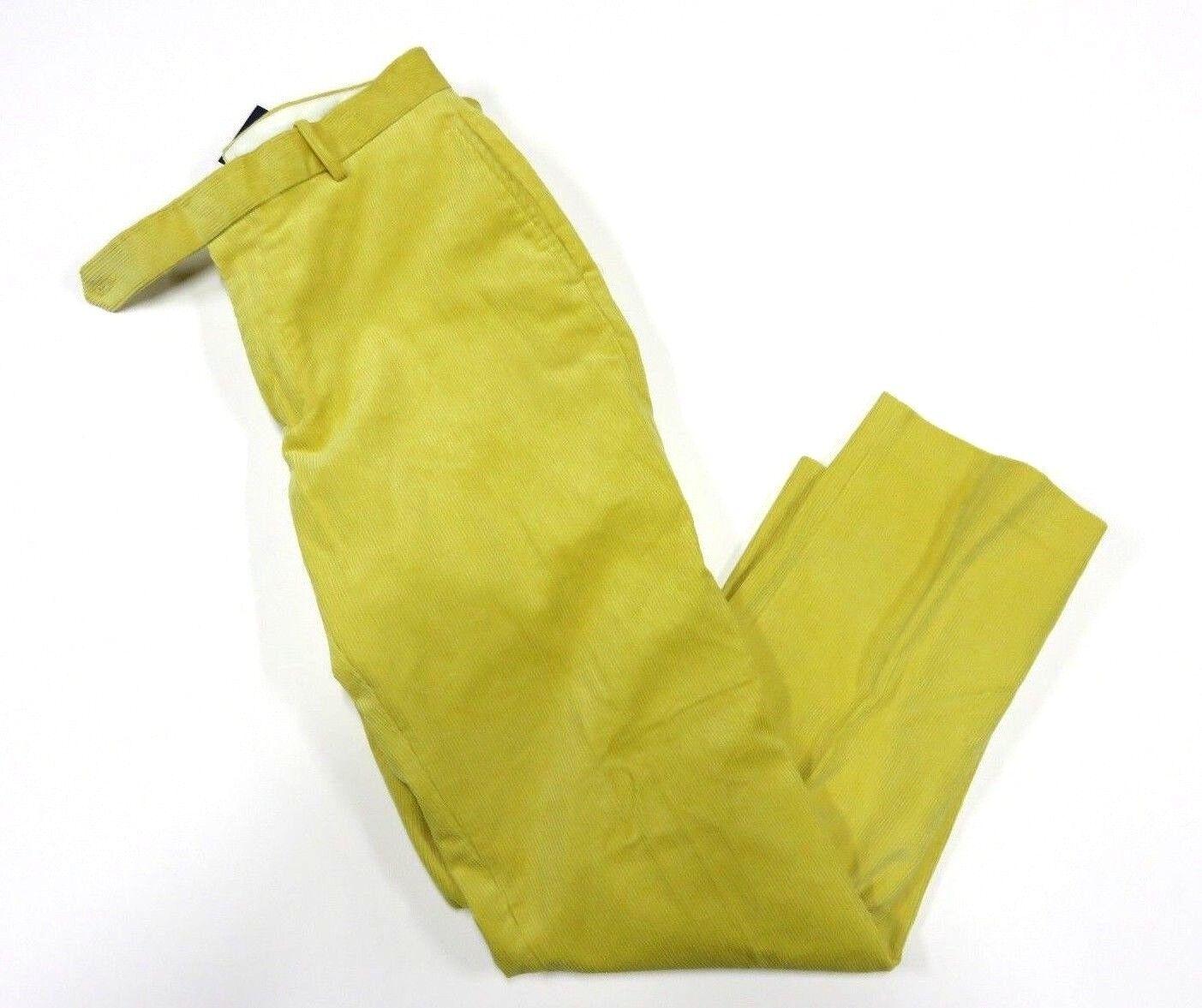 Nuevo  con etiquetas Polo By Ralph Lauren Amarillo Pantalones de pana para hombre Talla w32 L32  los clientes primero