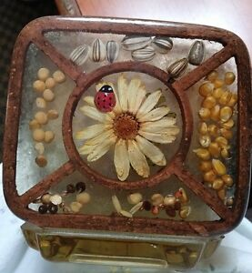 Vintage Gamut Designs Lucite Nature Garden Napkin Holder | eBay