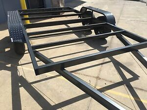 Car trailer frame tandem axle 14x6 6ft 2t use4 race no for Tandem flooring