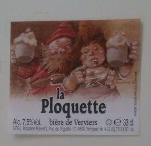 Hausman: La Ploquette. Bière de Verviers. Etiquette de bière (1998)