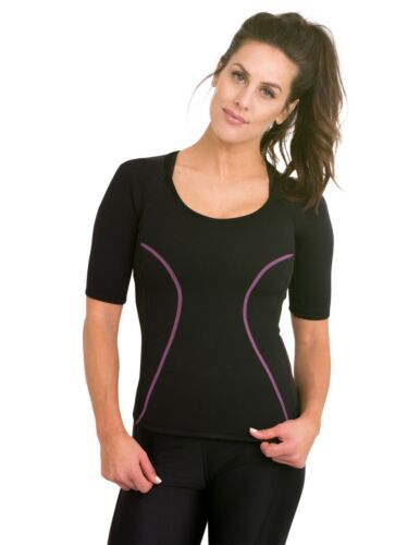 Delfin Spa Women/'s Heat Maximizing Neoprene Short Sleeve Exercise Top