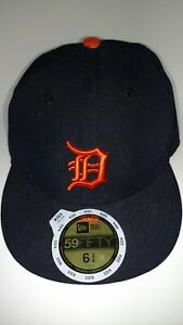new product a49c3 fdef8 Image is loading Detroit-Tigers-Fitted-Hat-Cap-MLB-New-Era-