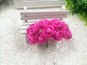 Roses Mousse Tulle Fuchsia Fleur Artificielle Decoration Mariage