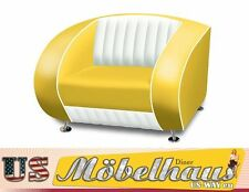 SF-01-CB Yellow Fifties Style Designer Sofa Wohnzimmer Sessel Retro 50er Jahre