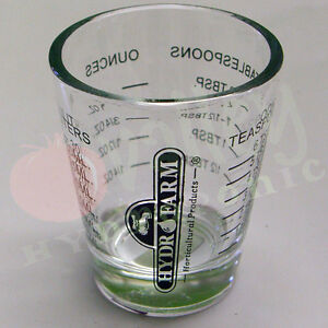 Hydrofarm mini measure shot glass 1 ounce small measuring for 1 4 cup table spoon