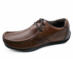 MENS-LEATHER-BROWN-SLIP-ON-LOAFERS-MOCCASINS-SMART-CASUAL-WORK-SHOES-UK-7-11