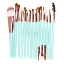 15Pcs Pro Makup Brushes Kit Eyeshadow Eyebrow Lip Foundation Powder Tools Gift #