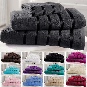 a6db3c1e641a Egyptian Cotton Towels Set Bath Sheet Bale Hand Large 100% Satin ...
