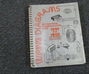 1992 Harley Davidson Softail Motorcycle Electrical Wiring Diagrams Manual Ebay